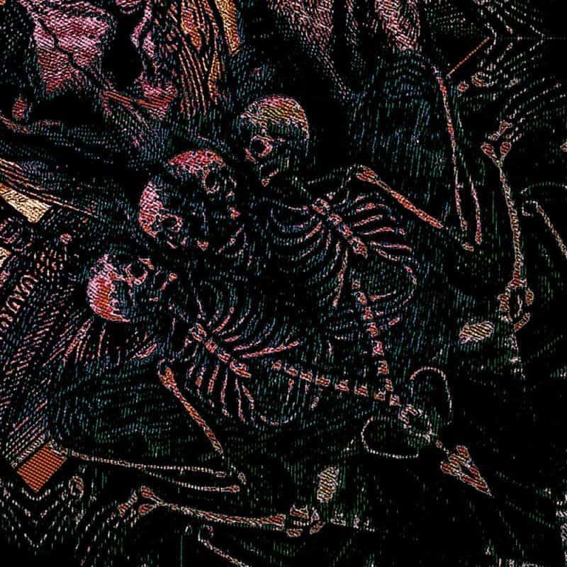 Stella Scarf , Dance Macabre, Skeletons, Detail